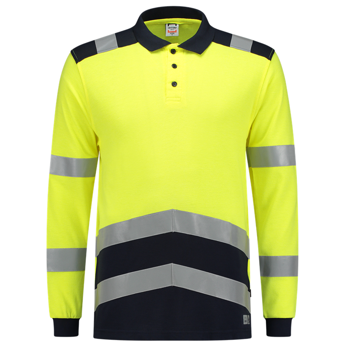 Tricorp Multinorm Bicolor Poloshirt met Lange Mouw | High visibility